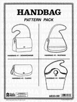 Handbag Pattern Pack 4 designs (The Classic, Downtowner, Mustang, and Rodeo) detailed instructions included
