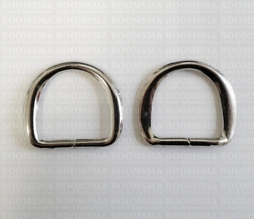 Handleholder (D shaped) 20 mm per pair colour: nickel - pict. 1