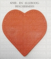 knee and elbow patches HEART (Multiple colours) 2 pcs. Bright orange 11 x 10,5 cm