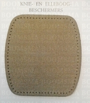 knee and elbow patches ROUNDED SQUARE (multiple colours) 2 pieces Dark beige 10,5 x 10 cm