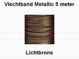 Leather lace metallic 5 METER BRONZE 3,5 mm (5 metre)