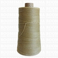 Neverstrand waxed nylon thread (6) 250 gram natural 250 gram approx. 600 meter, THIN (6)