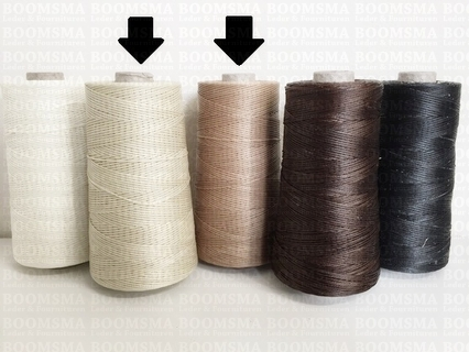 Neverstrand waxed nylon thread (6) 250 gram natural 250 gram approx. 600 meter, THIN (6) - pict. 2