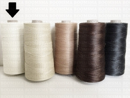 Neverstrand waxed nylon thread (8) 250 gram white 250 gram approx. 500 meter, thick (8)  (ea) - pict. 2