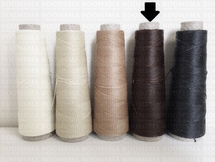 Neverstrand waxed nylon thread (8) 50 gram brown 50 gram approx. 100 meter, thick (8)  - pict. 2