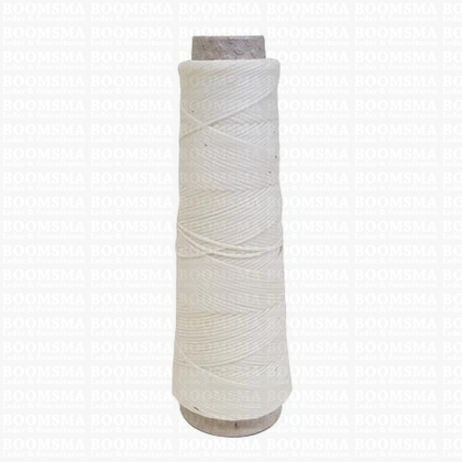 Neverstrand waxed nylon thread (8) 50 gram white White 50 gram ongeveer 100 meter, dik (8)  - pict. 1