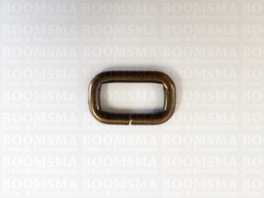 Rectangle loop antique brass plated 16 mm (per 10)