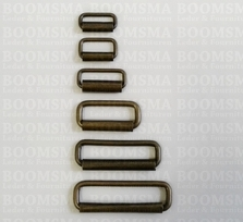 Rectangle loop with roller antique brass plated