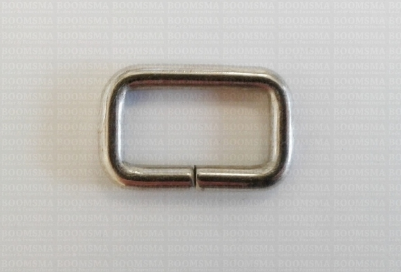 Rectangle loop silver 50 mm (per 10) - pict. 1