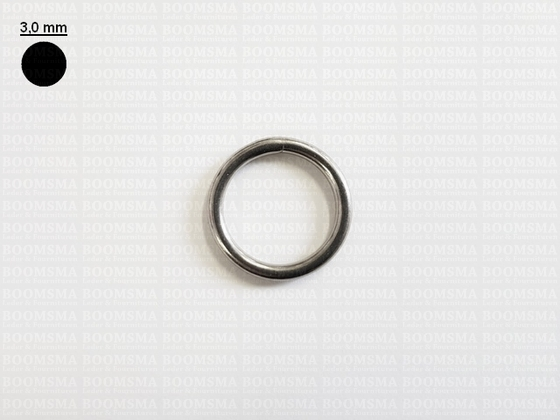 Ring round stainless steel silver 20 mm × Ø 3 mm  - pict. 1