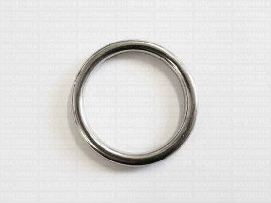 Ring round stainless steel silver - pict. 3
