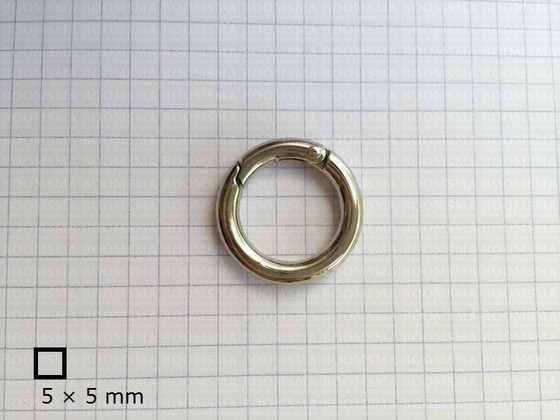 Ring-spring snap silver inside Ø 85 mm oval (ea) - pict. 2