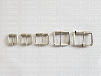 Roller buckle slim curved antique/mat silver  - pict. 4