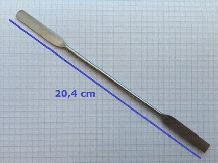 Stainless steel edge paddle length 20,4 cm, width of the paddle 0,9 cm - pict. 2