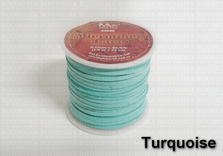 Suedine lace Turquoise Width 3 mm, 22.8 meters - pict. 1