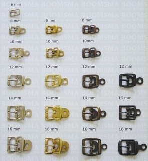 Centre bar buckle with plate small silver 8 mm (ea) - pict. 1
