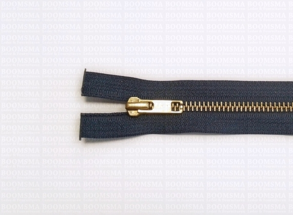 Zippers: Zipper Metal Copper (gold) MIDBLUE - pict. 1